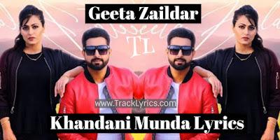 khandani-munda-lyrics