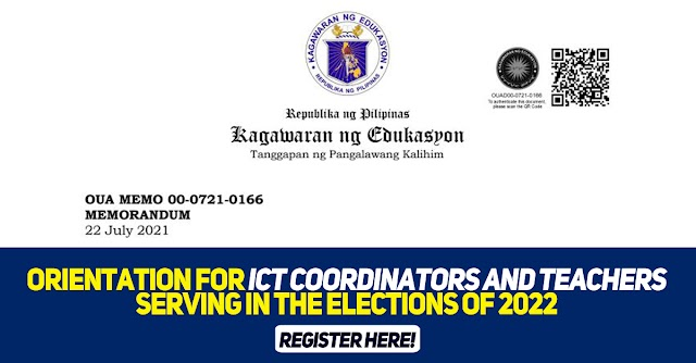 Orientation for ICT Coordinators and Teachers Serving in the Elections of 2022