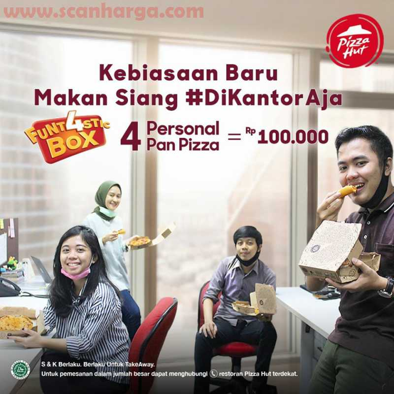 Pizza HUT Promo Funt4stic Box, 4 Personal Pan Pizza Hanya Rp 100Rb!