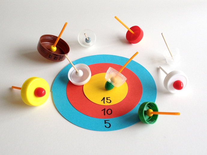 Schaeresteipapier Diy Spinning Tops Game Boards