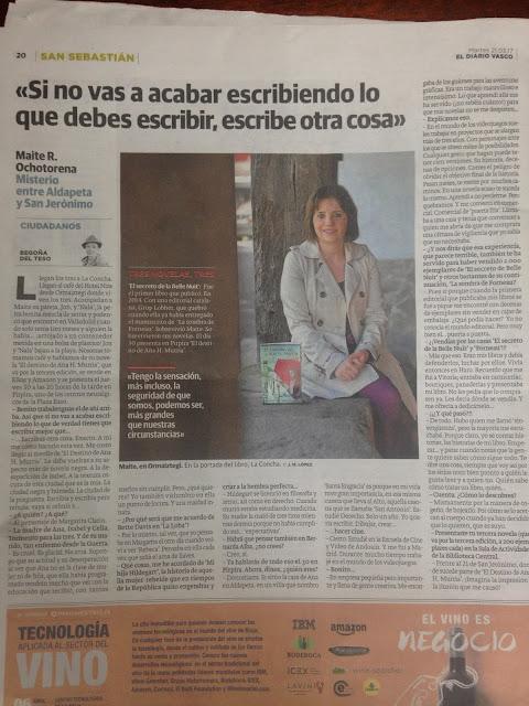 Entrevista para el Diario Vasco con Begoña del Teso