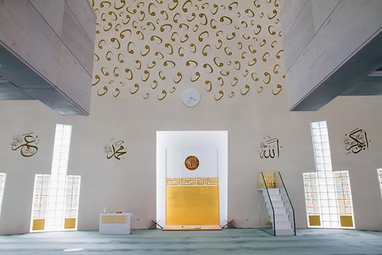 Desain interior masjid unik