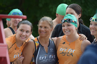 Triathlon participants at the 2018 Hockomock Area YMCA Triathlon