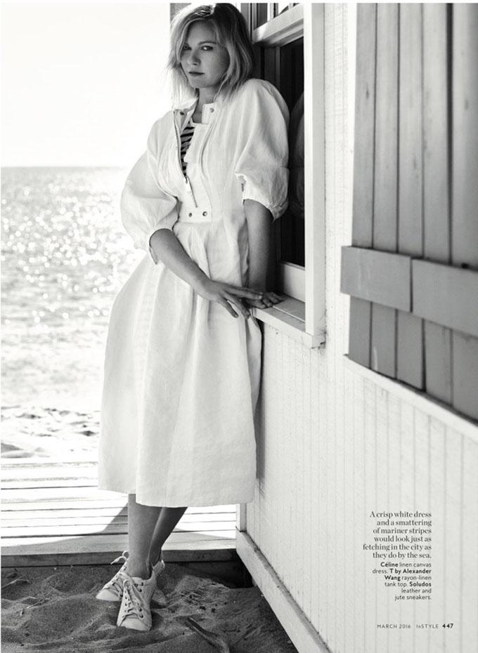 Kirsten Dunst in InStyle - Photo Kirsten Dunst 2016