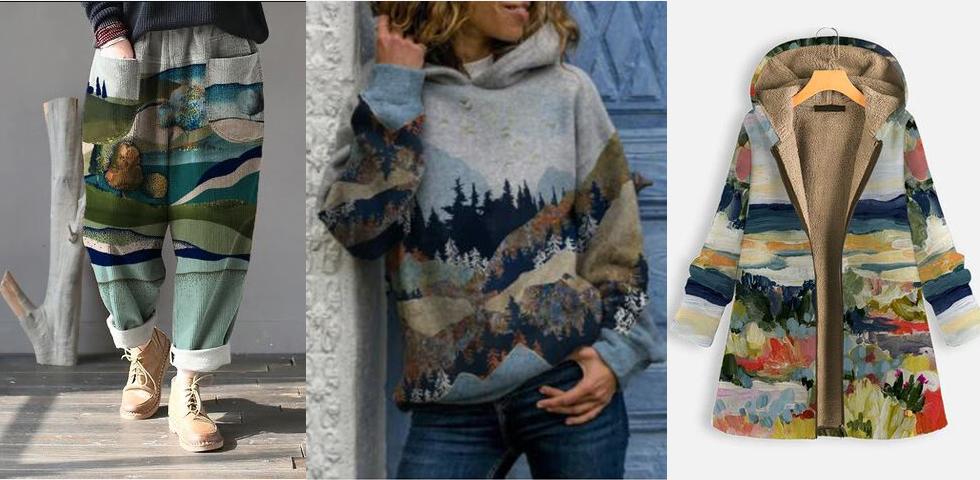 Landscape Print Clothing