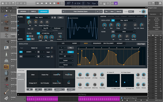 Logic Pro X update featuring Live Loops