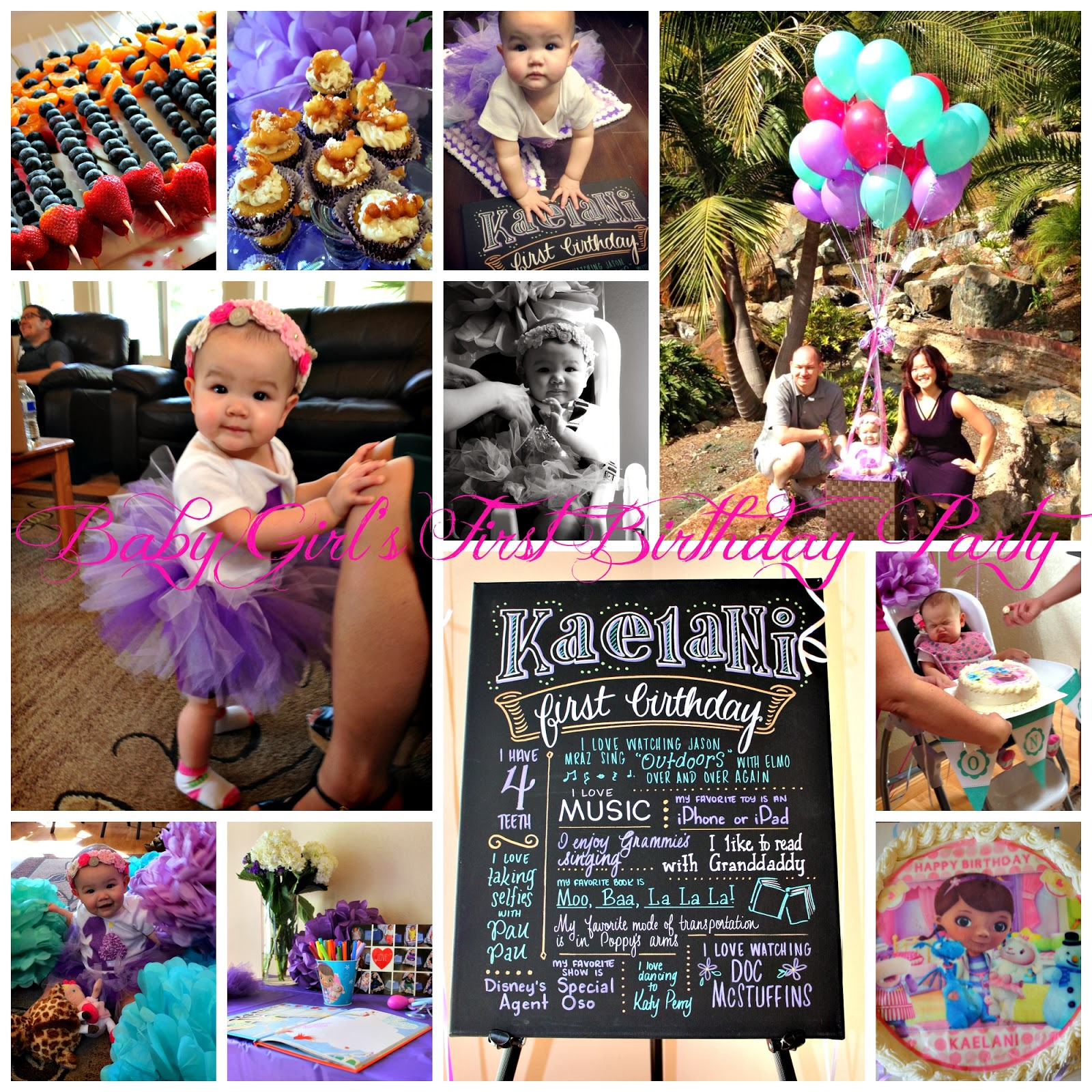 San Diego Hr Mom Baby Girls First Birthday Party Ideas