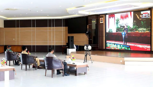 Walikota Bersama Sejumlah Forkopimda Batam Rakor Hasil Pilkada 2020 Bersama Presiden Jokowi