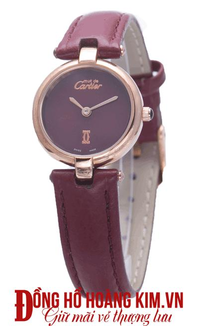 đồng hồ nữ dây da cartier hàng hiệu