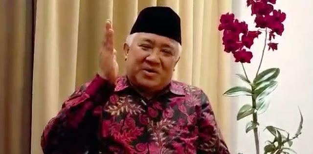 Keadaan Darurat, Din Syamsuddin Imbau Ganti Shalat Jumat Dengan Zuhur Di Rumah