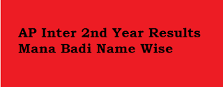 ap inter 2nd year results manabadi