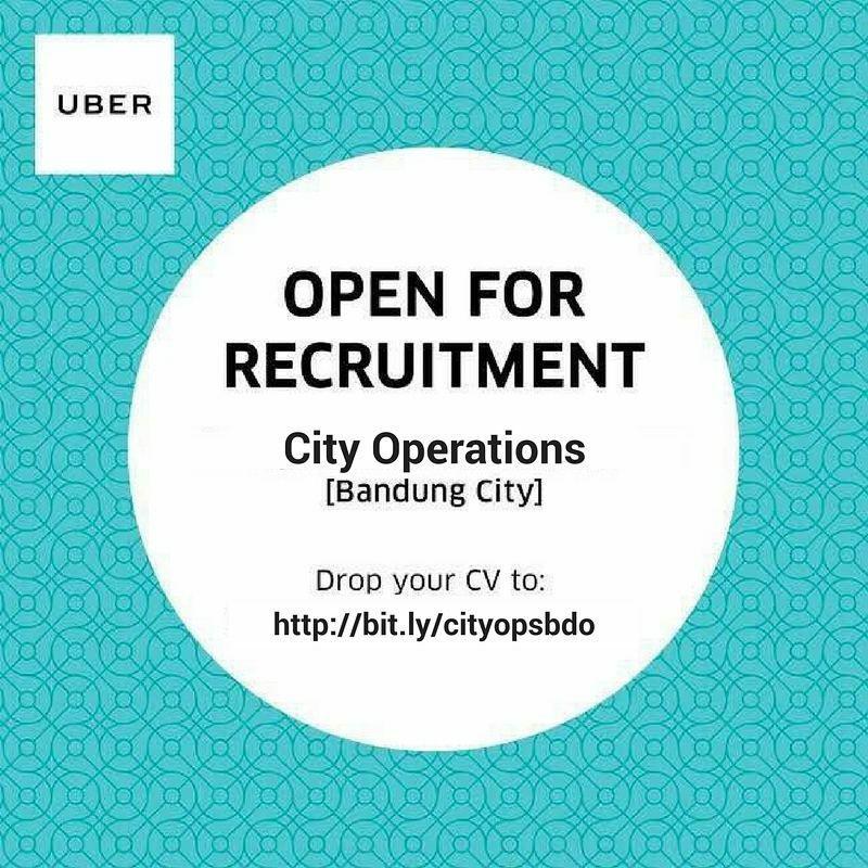 Lowongan Kerja PT. Uber Teknologi Indonesia Bandung Januari 2018