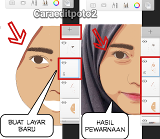 Cara membuat foto vector di sketchbook