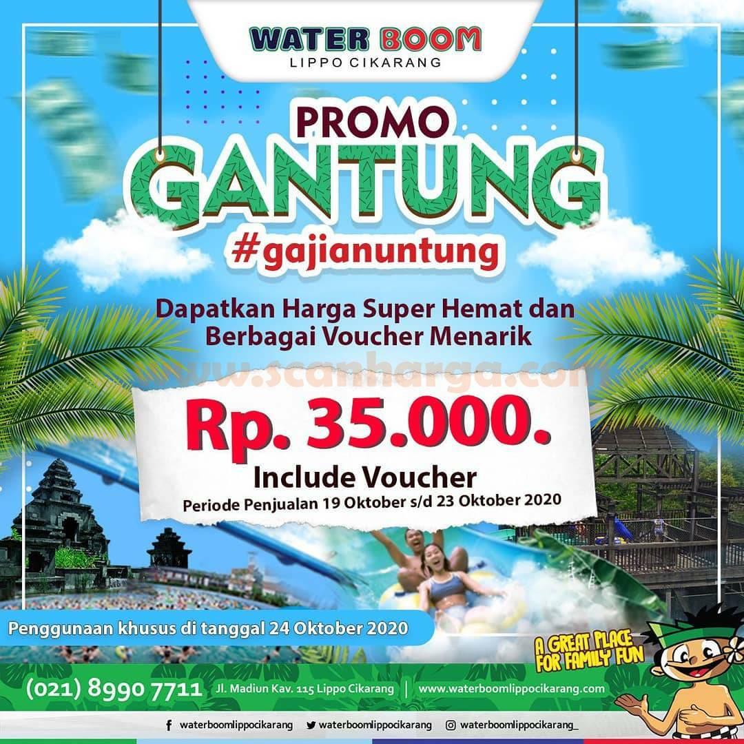 WATERBOOM Promo GANTUNG [Gajian Untung] - Beli Tiket Rp 35.000 dapat Voucher Rp 500.000