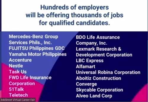 Thousands of Jobs at JobStreet Virtual Career Fair