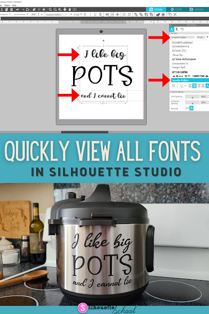 silhouette 101, silhouette america blog, fonts, script fonts, silhouette hacks
