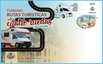 Sobre, PDC, Sello, Turismo, Autocaravana