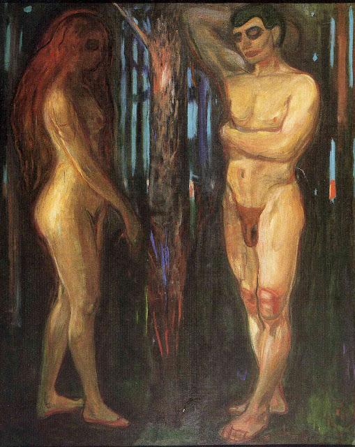 Эдвард Мунк - Адам и Ева. 1918