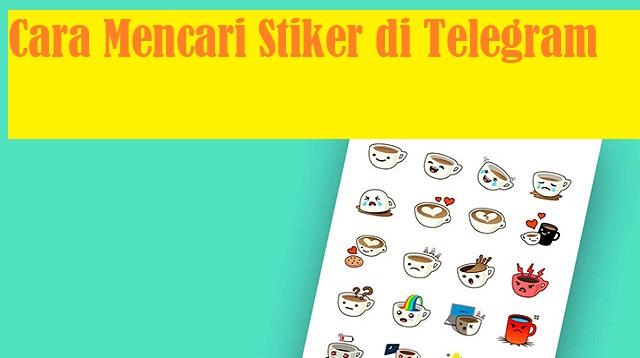 Cara Mencari Stiker di Telegram
