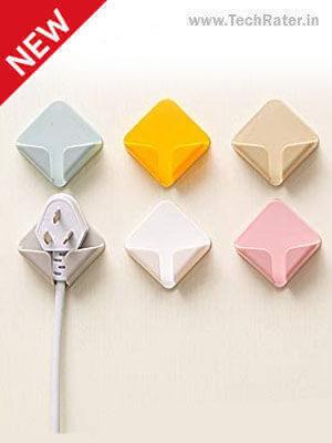 Adhesive Plastic Hooks for Plugs 8-Pack