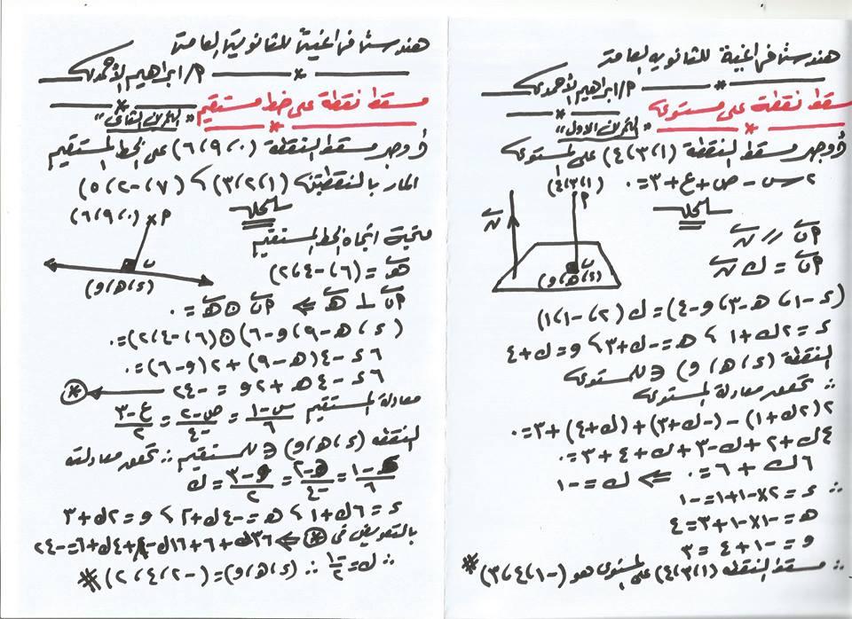 اهم النقاط والاسئلة على الهندسة الفراغية لطلاب الثانوية العامة أ/ ابراهيم الأحمدي 6