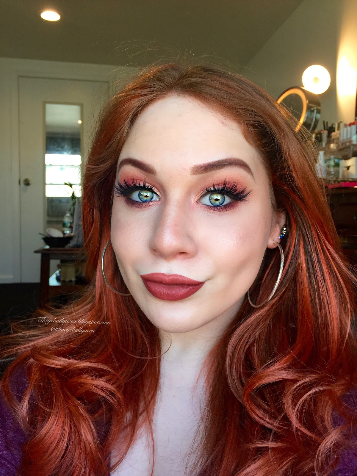 smokey eye makeup for blue eyes red hair | decorativestyle
