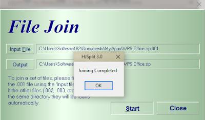 Cara Menggabungkan ( Join ) File dengan HJSplit