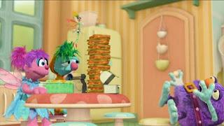 Abby Cadabby, Blögg, Gonnigan, Mrs. Sparklenose, Abby's Flying Fairy School Pandora's Lunch Box. Sesame Street Episode 4414 The Wild Brunch season 44
