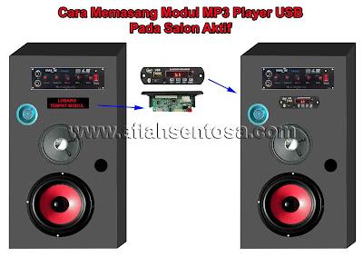 Cara memasang modul MP3 player pada salon aktif