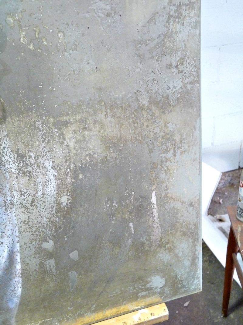 How to antique glass - step by step tutorial