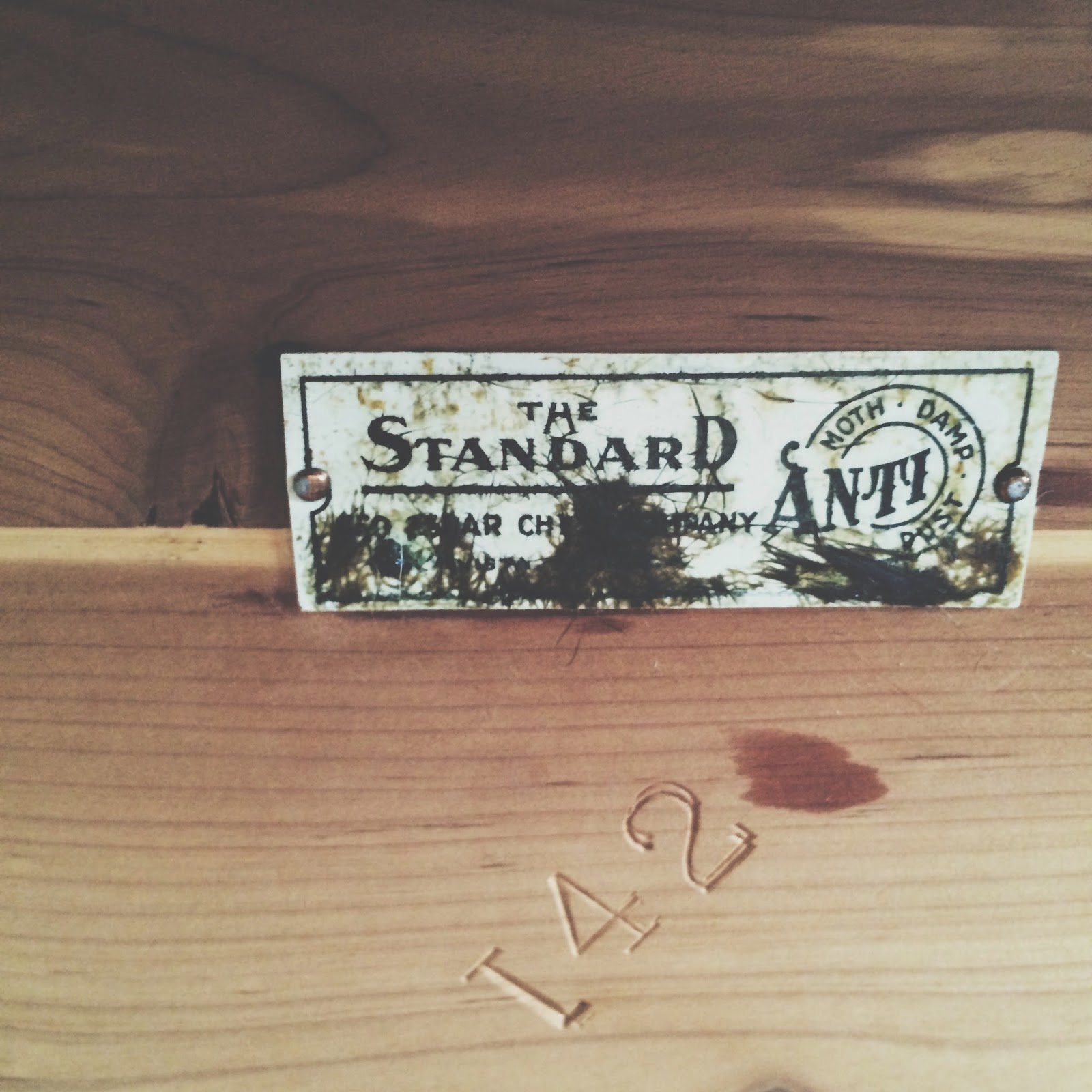 The Standard Red Cedar Chest Company Need To Try Clean Off Label Still
