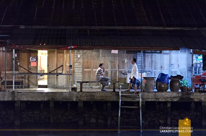 Amphawa Floating Market at Night