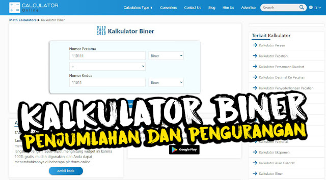 Kalkulator Biner Online