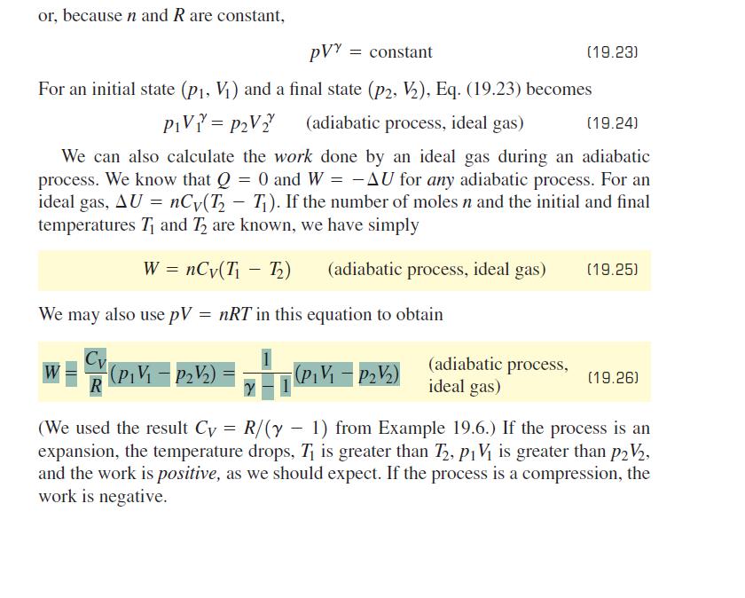 pressure and temperature relationship adiabatic engine