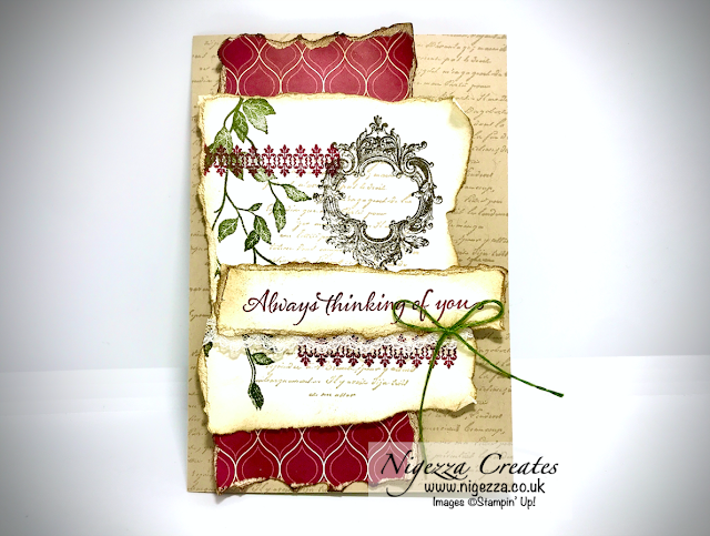 Nigezza Creates Live with Stampin' Up! Very Versailles Shabby Chic Card