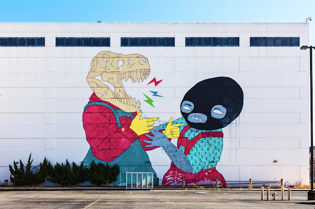 New Street Art Collaboration By Jasper Wong and Kelly Towles in Washiongton DC, USA. 1