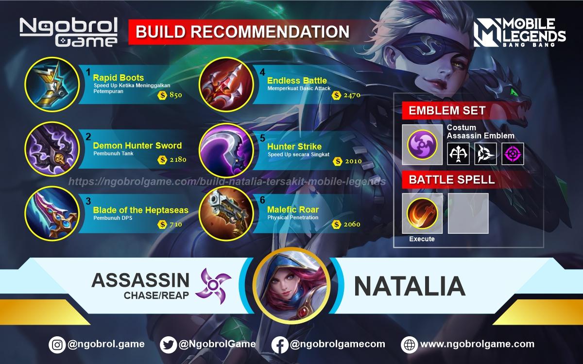 Build Natalia Top Global Tersakit Mobile Legends