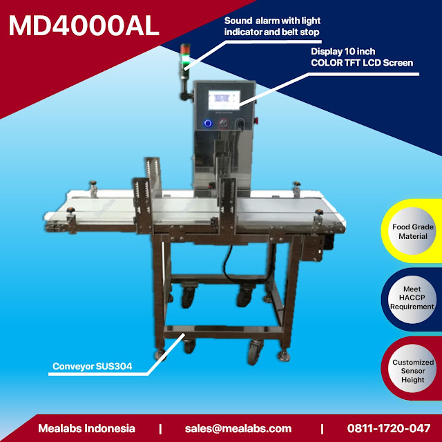 metal detector untuk kemasan aluminium atau metalized