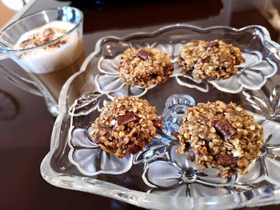 Zobeni Keksi s Bananom Čokoladom i Kokosom | Banana Oatmeal Cookies with Coconut