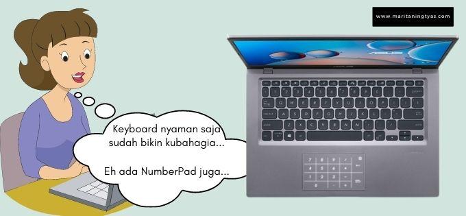 numberpad dan keyboard yang nyaman