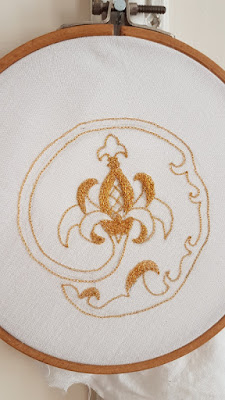 tambour embroidery gold embroidery auris lothol pomegranate