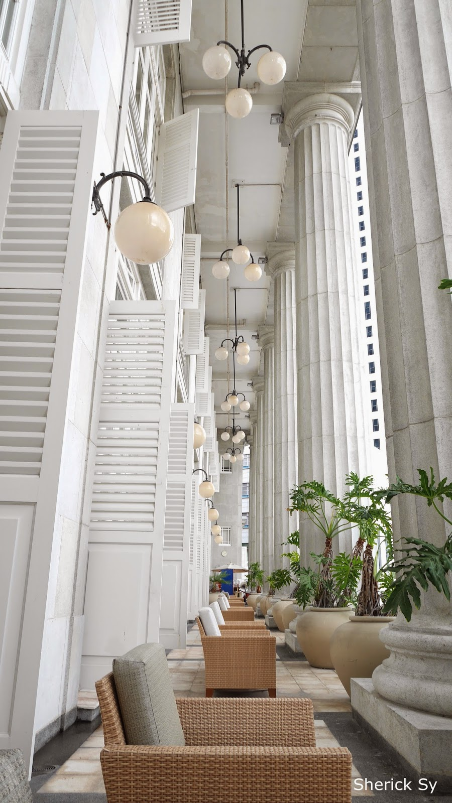 Balcony at Fullerton Hotel, Singapore