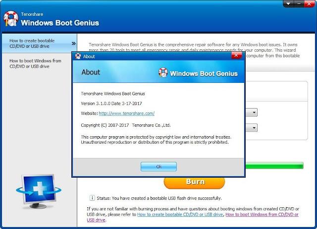 Screenshot Tenorshare Windows Boot Genius 3.1.0.0 Full Version