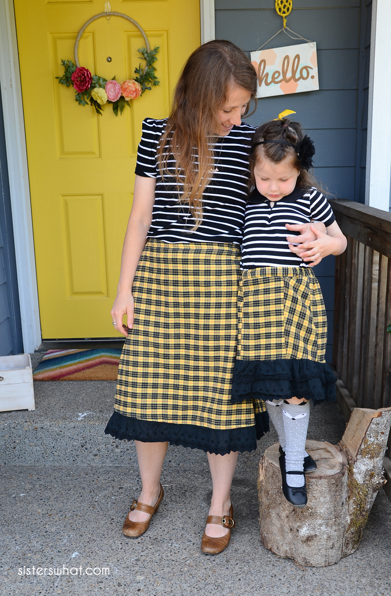 diy matching mommy and me skirt