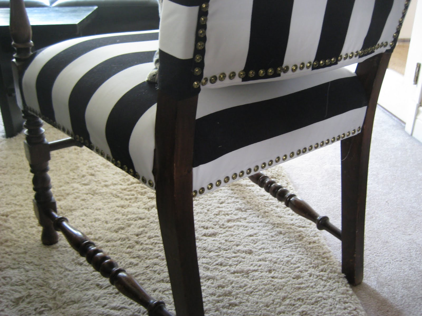Black And White Striped Chair Black And White Striped Armchair The Reveal Markova Design