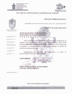 TeleSecundarias Oaxaca: Fechas para solicitar expansion