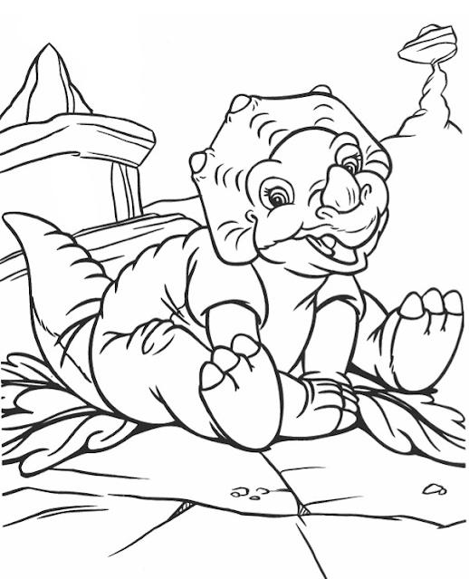 رسومات ديناصورات للاطفال