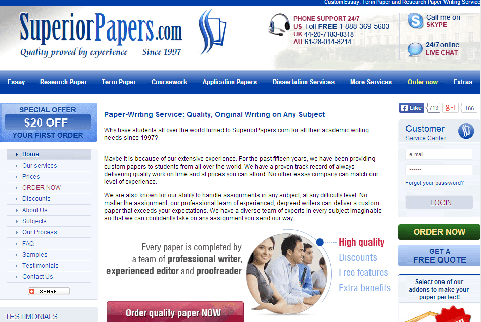 Superiorpapers.com Essay Writing Service Picture