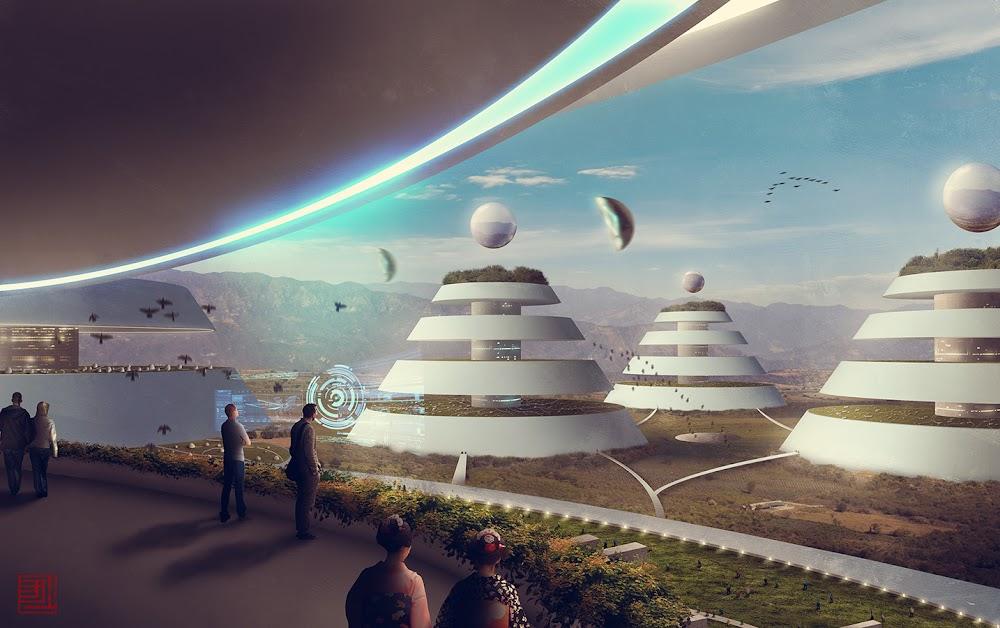 Future city on terraformed Mars by Julian Faylona