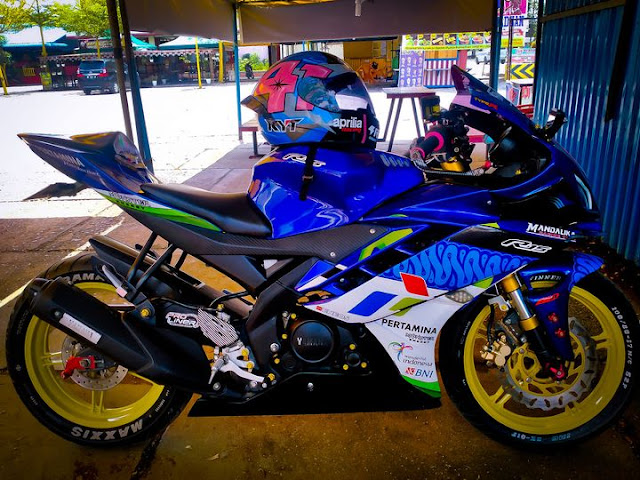 Modifikasi Decal R15 Livery Pertamina Mandalika SAG Team